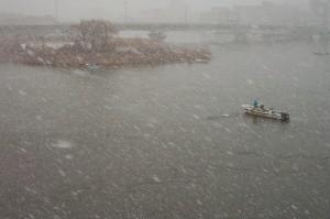 雪中しじみ漁 01.2.16(12)